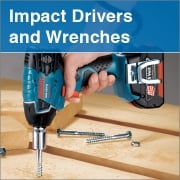 Impact Drivers and Wrenches