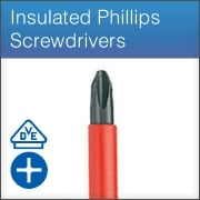 Insulated Phillips Screwdrivers (VDE)