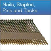 Nails, Staples, mini pins and Tacks