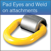 Pad Eyes and Weld on attachments