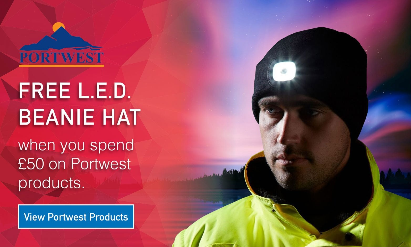 Portwest Free LED Hat