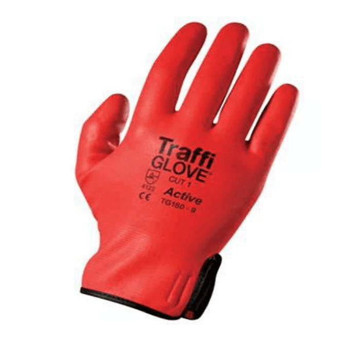 Traffiglove Soflex Active Fully Coated Gloves Red