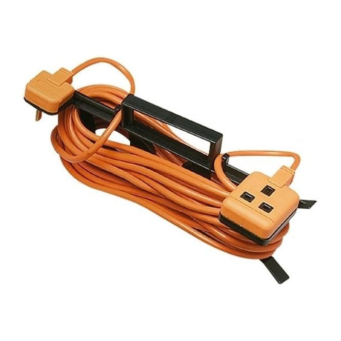 Masterplug Weatherproof Garden Tidy Extension Lead 15m 10A IP54