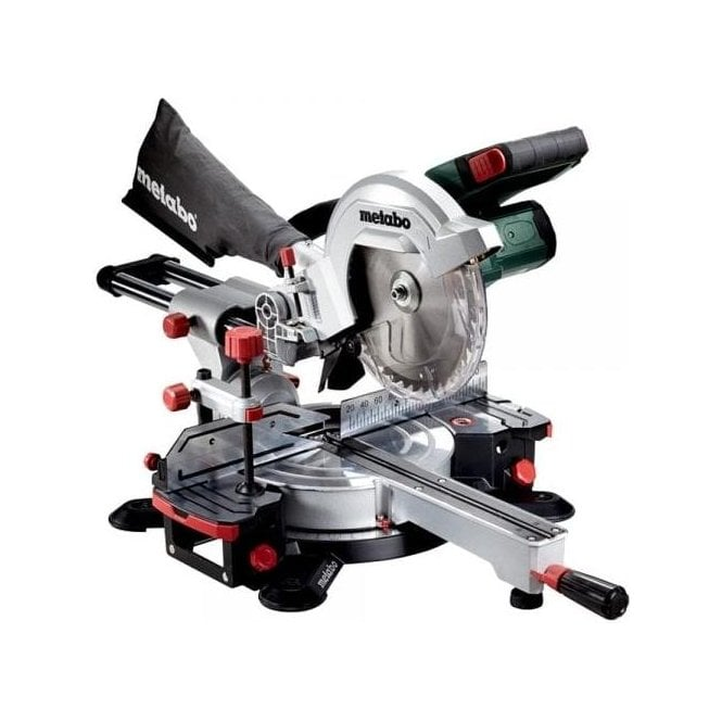 Metabo Mitre Saw Set KGS 18 LTX 216 (with Free Action Cam, Charger and 2 x 7Ah LiHD Batteries in MetaLoc)