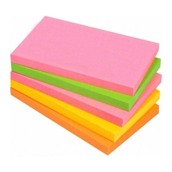 Neon Sticky Note 76mm x 127mm (Pack of 12)