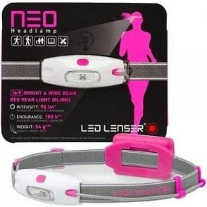 LED Lenser NEO Head Torch (Neon Pink)