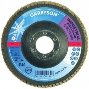 Garryson 115mm X 22mm 60 Grit Zirconium Flap Discs