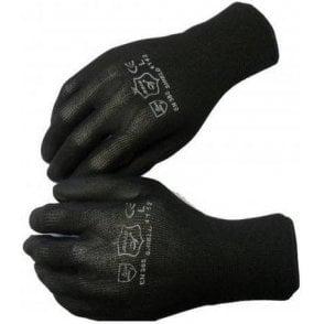 Shield Black PU Coated Seamless Gloves