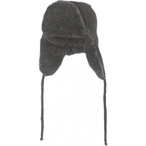 L.Brador Clothing Black Knitted Imitation Fur Hat