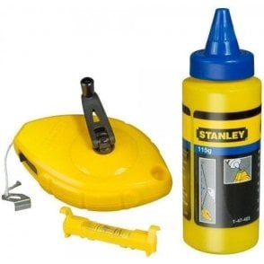 Stanley Chalk Line Level and Chalk 30m