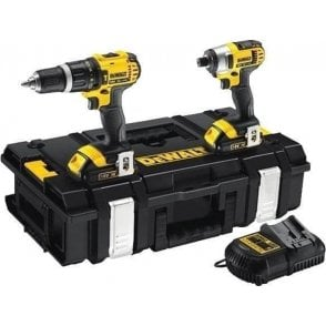 Dewalt Twin Pack Combi+Impact Driver (with Charger and 2 X 1.5ah Batteries in Kit Box)