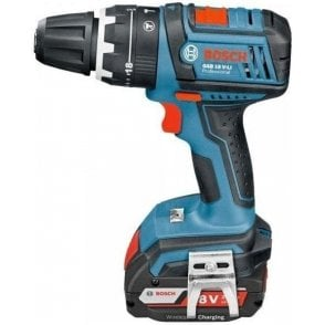 Bosch Cordless Combi GSB 18V-LI (with Wireless Charger and 2 x 2.0Ah Batteries in L-Boxx)