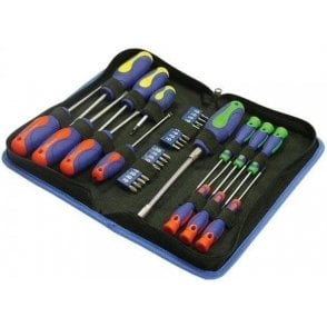 Faithfull Soft-Grip Screwdriver and Hexbit Set (34 Piece)