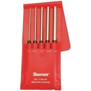 Starrett Long Range Pin Punch Set (5 Piece)