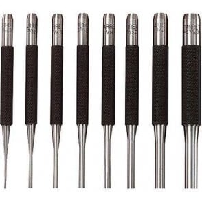 Starrett 565 Series Drive Pin Punches Set (8 Piece)