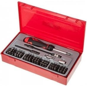 Teng Tools Hex Ratcheting Bits Driver Set in TC Tray (74 Piece)