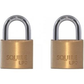 Squire LP9T Open Keyed Alike Brass Padlock (Twin Pack of 2)