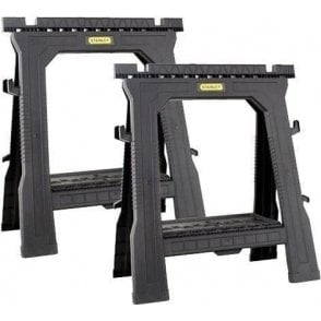 Stanley Folding Saw Horses (Twin Pack)