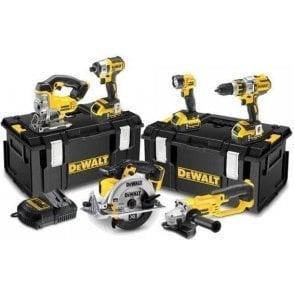 Dewalt Brushless 3 Speed Power Tool Kit (6 Piece) (with 3 x 5.0Ah Li-Ion Batteries in 2 x Tough Case)