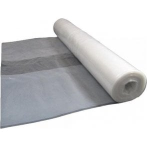 Clear Polythene Sheeting Roll 120 Gauge 100m x 4m