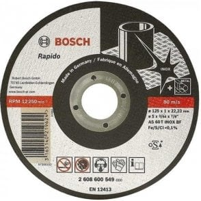 Bosch Stainless Steel Cutting Disc (Flat Centre)