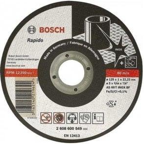 Bosch Stainless Steel Cutting Disc (Flat Centre)