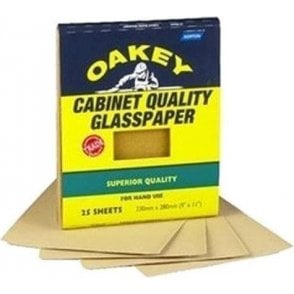 Oakey Glasspaper Sheets Grade 2.5 230mm x 280mm (Pack of 25)