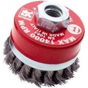 Twist Knot Cup Brush 70mm x M10 x 1.50mm