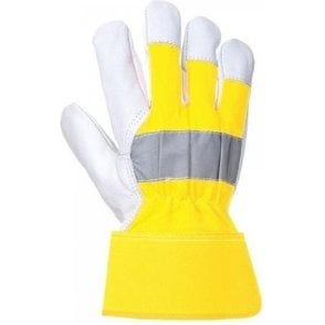 Portwest Hi Visibility Yellow Rigger Gloves (A215)