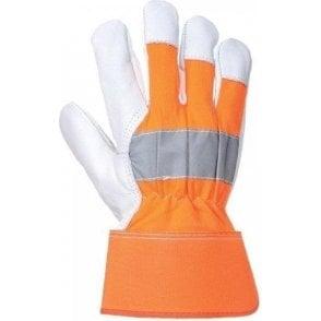 Portwest Hi Visibility Orange Rigger Gloves (A215)