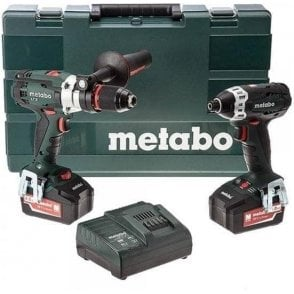 Metabo Cordless LTX Combo Set 2.1.6 (with Charger and 2 x 4.0Ah Batteries in Kitbox)