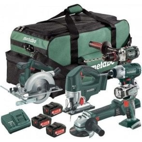 Metabo LTX Cordless Power Tool Kit (6 Piece with 3 x 4.0Ah Batteries)