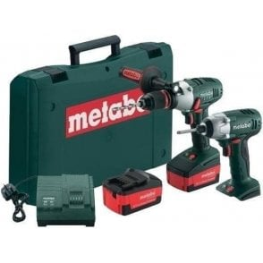 Metabo PowerExtreme Twin Pack Cordless Combi Hammer+Impact Driver