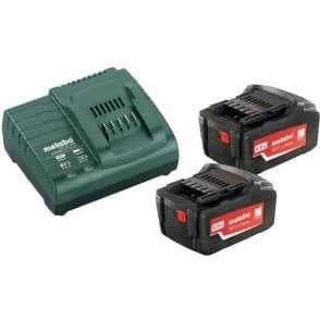 Metabo Starter Kit (with Charger, Batteries and Cordless Lamp in Tool Bag)