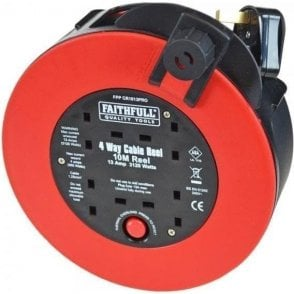 Faithfull Fast Rewind Cable Reel 10m 240V