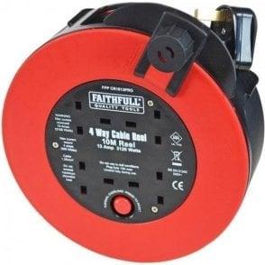 Faithfull Fast Rewind Cable Reel 13Amp