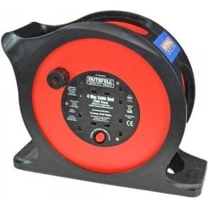 Faithfull Anti-Tangle Rapid Rewind Cable Reel 25m 240V