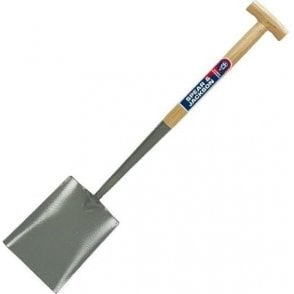 Spear and Jackson Solid Socket T Handle Shovel with Hardwood Shaft
