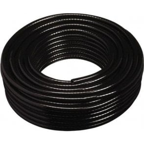 Black Braided PVC Hose 10mm x 30m