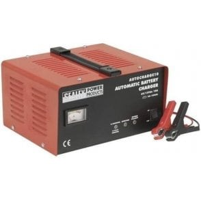 Sealey Autocharge Battery Charger 10Amp 6/12V