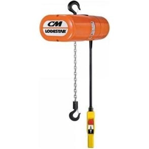 CM Lodestar Electric Chain Hoist Hook Suspension 240V AC
