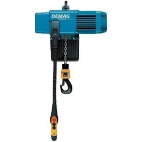 Demag DC-Com Electric Chain Hoist with Push Trolley Suspension (58-200mm Flange)