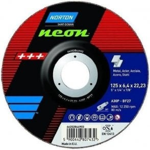 Norton Neon Inox Grinding Disc (Pack of 10)