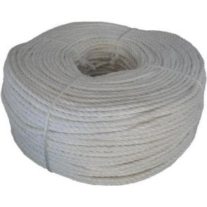 White Polypropylene Rope Coil