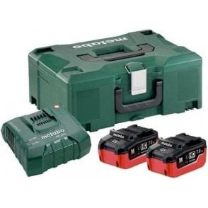 Metabo LiHD Basic Set (with ASC Ultra Charger and 2 x 7.0Ah LiHD Batteries in MetaLoc II)