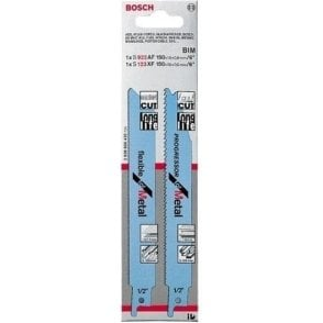 Bosch Sabre Saw Blade Set for Metal S922AF and S123XF (Pack of 2)
