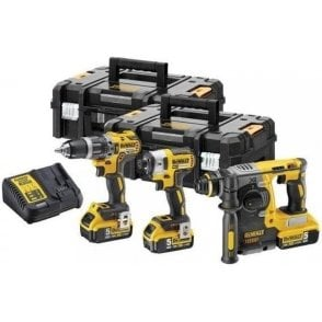 Dewalt XR Power Tool Kit DCK368P3T (3 Piece with Charger and 3 x 6.0/2.0Ah Batteries in 2 x T-STAK Boxes)