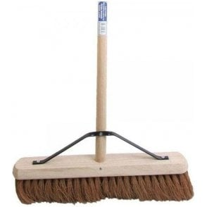 Faithfull Broom Soft Coco 450mm with Handle and Stay