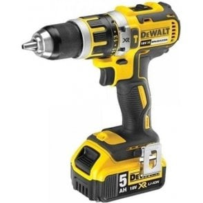 Dewalt Compact Brushless Hammer Drill Driver DCD795 (with Charger and 2 x 5.0Ah Batteries in Kit Box)