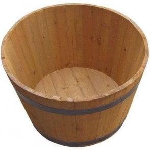 Half Whiskey Wooden Barrel Plant Pot